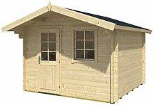 Alpholz Blockhaus CLARA-40 ISO - Gartenhaus mit