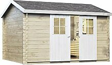 Alpholz Gartenhaus DINANT aus Fichten-Holz |