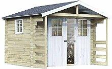 Alpholz Gerätehaus Lier aus Fichten-Holz 300 x