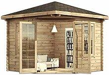 Alpholz Modernes 5-Eck Holz Gartenhaus Victor mit