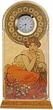 Alphonse Mucha Topaz 23cm Wanduhr von Goebel
