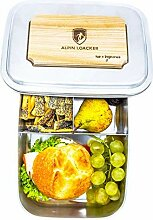 ALPIN LOACKER Edelstahl Lunchbox Groß 1800ml