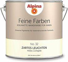 Alpina 2,5 L. Feine Farben, Farbwahl, Edelmatte Wandfarbe für Innen (No.32 Zartes Leuchten - Helles Lichtgelb)