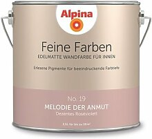 Alpina 2,5 L. Feine Farben, Farbwahl, Edelmatte Wandfarbe für Innen (No.19 Melodie der Anmut - Dezentes Roséviolett)