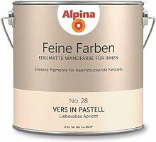 Alpina 2,5 L. Feine Farben, Farbwahl, Edelmatte Wandfarbe für Innen (No.28 Vers in Pastell - Liebevolles Apricot)