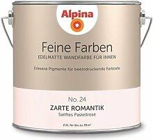 Alpina 2,5 L. Feine Farben, Farbwahl, Edelmatte Wandfarbe für Innen (No.24 Zarte Romantik - Verträumtes Grau-Rosé)