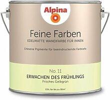 Alpina 2,5 L. Feine Farben, Farbwahl, Edelmatte Wandfarbe für Innen (No.11 Erwachen des Frühlings - Frisches Gelbgrün)