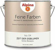 Alpina 2,5 L. Feine Farben, Farbwahl, Edelmatte Wandfarbe für Innen (No.4 Zeit der Eisblumen - Kühles Blassgrau)