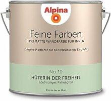Alpina 2,5 L. Feine Farben, Farbwahl, Edelmatte Wandfarbe für Innen (No.10 Hüterin der Freiheit - Edelmütiges Patinagrün)