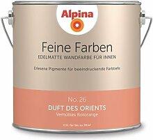 Alpina 2,5 L. Feine Farben, Farbwahl, Edelmatte Wandfarbe für Innen (No.26 Duft des Orients - Verhülltes Rotorange)