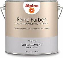 Alpina 2,5 L. Feine Farben, Farbwahl, Edelmatte Wandfarbe für Innen (No.20 Leiser Moment - Graziles Graulila)