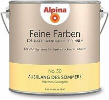 Alpina 2,5 L. Feine Farben, Farbwahl, Edelmatte Wandfarbe für Innen (No.30 Ausklang des Sommers - Warmes Goldgelb)
