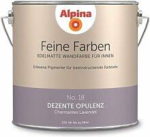 Alpina 2,5 L. Feine Farben, Farbwahl, Edelmatte Wandfarbe für Innen (No.18 Dezente Opulenz - Charmantes Lavendel)