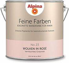 Alpina 2,5 L. Feine Farben, Farbwahl, Edelmatte Wandfarbe für Innen (No.23 Wolken in Rosé - Verträumtes Graurosé)