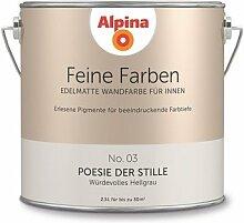 Alpina 2,5 L. Feine Farben, Farbwahl, Edelmatte Wandfarbe für Innen (No.3 Poesie der Stille - Würdevolles Hellgrau )