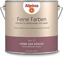 Alpina 2,5 L. Feine Farben, Farbwahl, Edelmatte Wandfarbe für Innen (No.17 Farbe der Könige - Herrschaftliches Purpur)