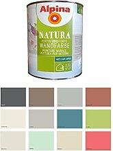 Alpina 2,5 L Natura Wandfarbe Silikat Mineralfarbe Wildrose, Pink Ma