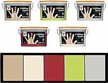 Alpina 5 L. Lieblingsfarben, fertig abgetönte Wandfarbe, Caramel, Braun, Toffee Ma