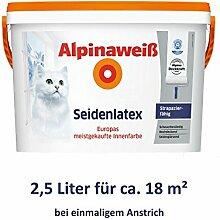 ALPINA Alpinaweiß Seidenlatex 2,5 Liter