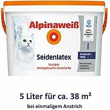 ALPINA Alpinaweiß Seidenlatex 5 Liter