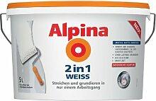 Alpina Farben Innenfarbe Wandfarbe 2in1 Weiß 5L