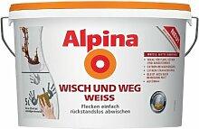 Alpina Farben Wandfarbe Wisch und Weg Weiß 5L