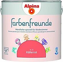 Alpina Farbenfreunde 2,5L Kinderzimmerfarbe Wandfarbe (Nr.15 Käferrot)
