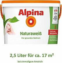 Alpina Natura Weiss 2,5 Liter Wandfarbe Weiß frei