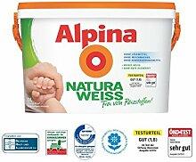 Alpina NaturaWeiss, Wandfarbe weiß matt 10 L.,