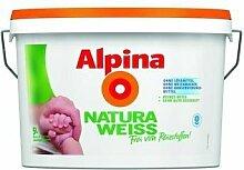 Alpina NaturaWeiss, Wandfarbe weiß matt 5 L.,