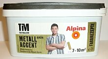 Alpina, Tim Mälzer Farbrezepte, Metall Accent Grün, 1 L., Effekt-Farbe, Wandfarbe