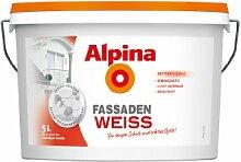 Alpina Wandfarbe 700519 FassadenWeiss 5 Liter