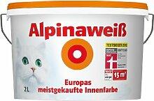 Alpina Wandfarbe 867151 Alpinaweiß matt 2 Liter