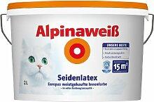 Alpina Wandfarbe 867177 Alpinaweiß Seidenlatex 2