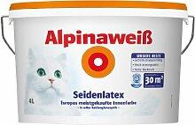 Alpina Wandfarbe Alpinaweiß Seidenlatex 4L