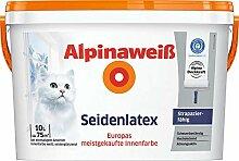 Alpinaweiß Seidenlatex Weiß 2,5 Liter