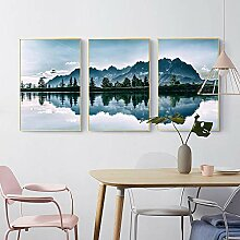 Alpine Lake Reflection Landscape Bild