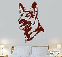 Alsation Hundekopf nettes Tier Schlafzimmer