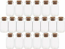 Alsino 100 Stück Glasfläschchen mit Korken GF-01