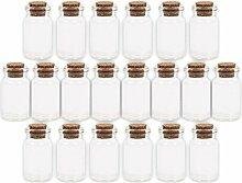 Alsino 100 Stück Glasfläschchen mit Korken