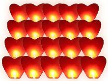 Alsino Himmelslaternen Herz rot für Hochzeit |