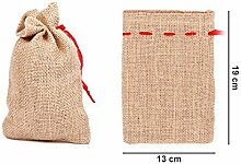 Alsino Jutesäckchen 12 Stück Jutesäcke Set