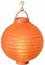Alsino LED Papier Lampion Papierlaterne Laterne 20 cm Gartendeko Dekoration, Variante wählen:L-04 orange