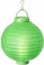 Alsino LED Papier Lampion Papierlaterne Laterne 20 cm Gartendeko Dekoration, Variante wählen:L-03 grün