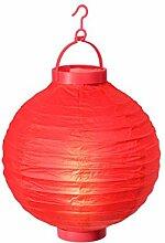 Alsino LED Papier Lampion Papierlaterne Laterne 20 cm Gartendeko Dekoration, Variante wählen:L-05 ro