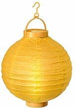 Alsino LED Papier Lampion Papierlaterne Laterne 20 cm Gartendeko Dekoration, Variante wählen:L-02 gelb