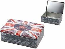 Alsino Metall Dose Union Jack Aufbewahrung Metall Box Vorratsdose Stars and Stripes, Variante wählen:101927 Union Jack
