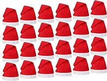 Alsino Weihnachtsmütze Nikolausmütze 24er Set