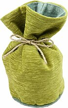 Alston Chenille Zirkular Türstopper, Chenille, Lime Green with Duck Egg Blue, Circular (14cmx26cm)