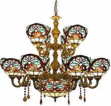 Alt Europäische Retro Kreative Tiffany-Buntglas